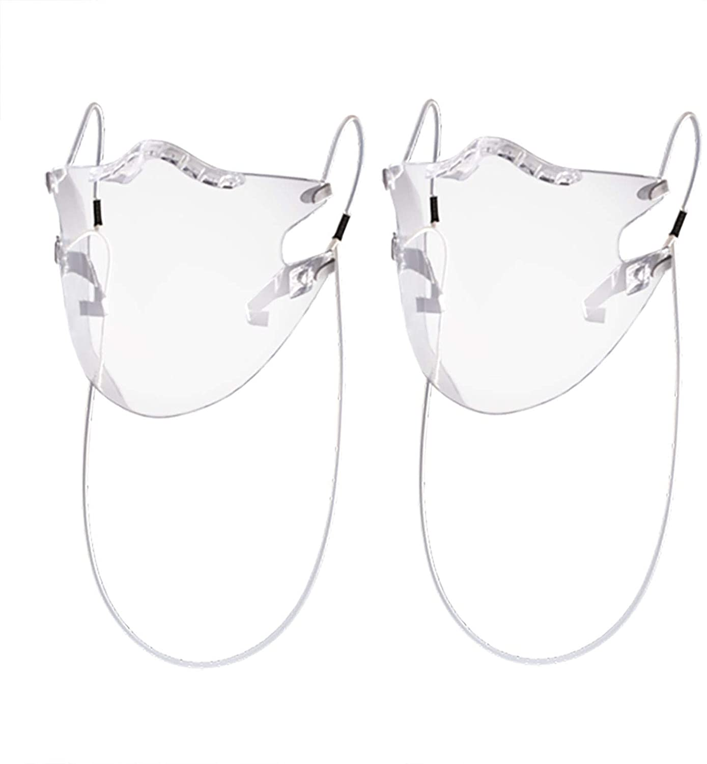 【Ship from US!!!】 Clarity Face_Shield for Adult, Anti-Fog Clarity Face_Masks Reusable Clear Face_Mask Transparent, All Clear Face Bandanas Breathable Comfortable, Visible Expression for Women Men