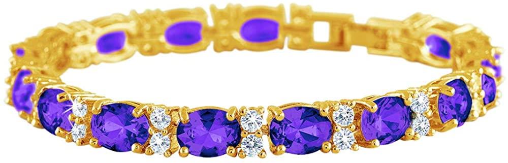 Birthstone Tennis Bracelet – Birthstone Jewelry - Birthstone Gifts for Women – Birthstone Bracelet – Birthstone Jewelry for Her #1265-002