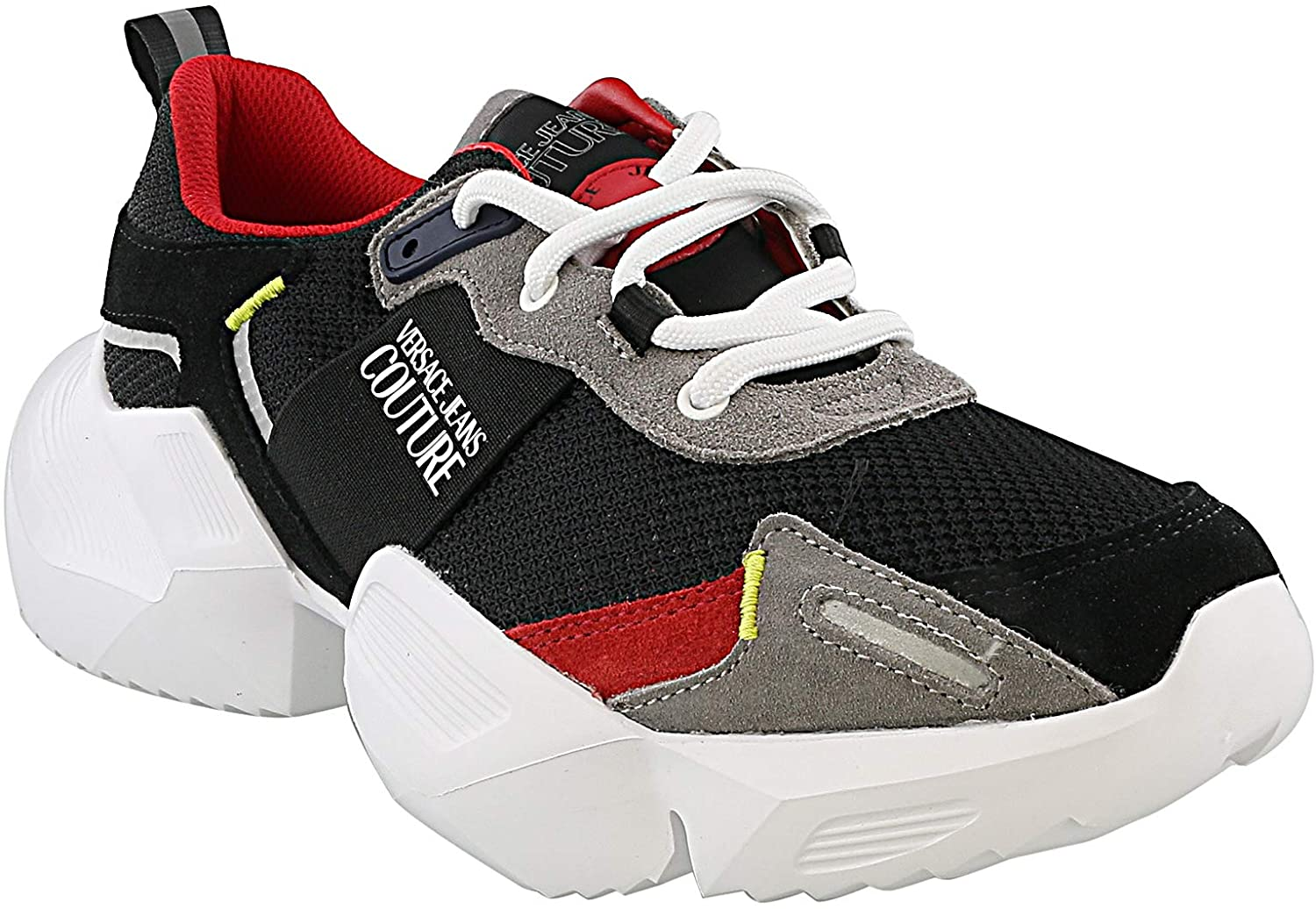 Versace Jeans Couture Black/Red Classic Sneakers for Mens