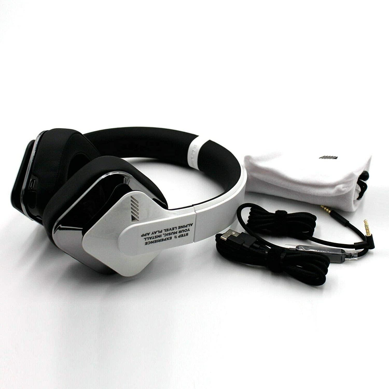 Alpine sv-h300uw tkr3 Full Frequency immersive Technology Over-Ear Headphones (White/Silver)
