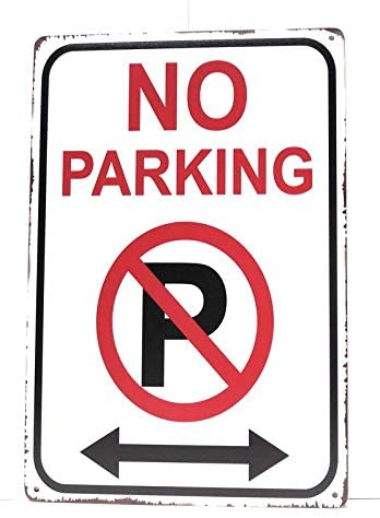 DRD&M No Parking Tin Sign, Street Sign, No Parking Anytime Sign, Road Sign, Wall Sign, Funny No Parking Sign, Business Sign, No Parking Sign, 8-Inch by 12-Inch Sign | TSC301 |