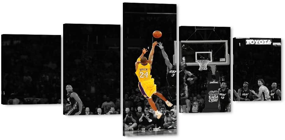Large Canvas Art Prints Kobe Bryant's Game-Winning Shot Picture Forever Legend Inspirational Art for Home Wall Decor, Kobe Bryant Posters for Men Boys Room Decorations for Bedroom, Office (50