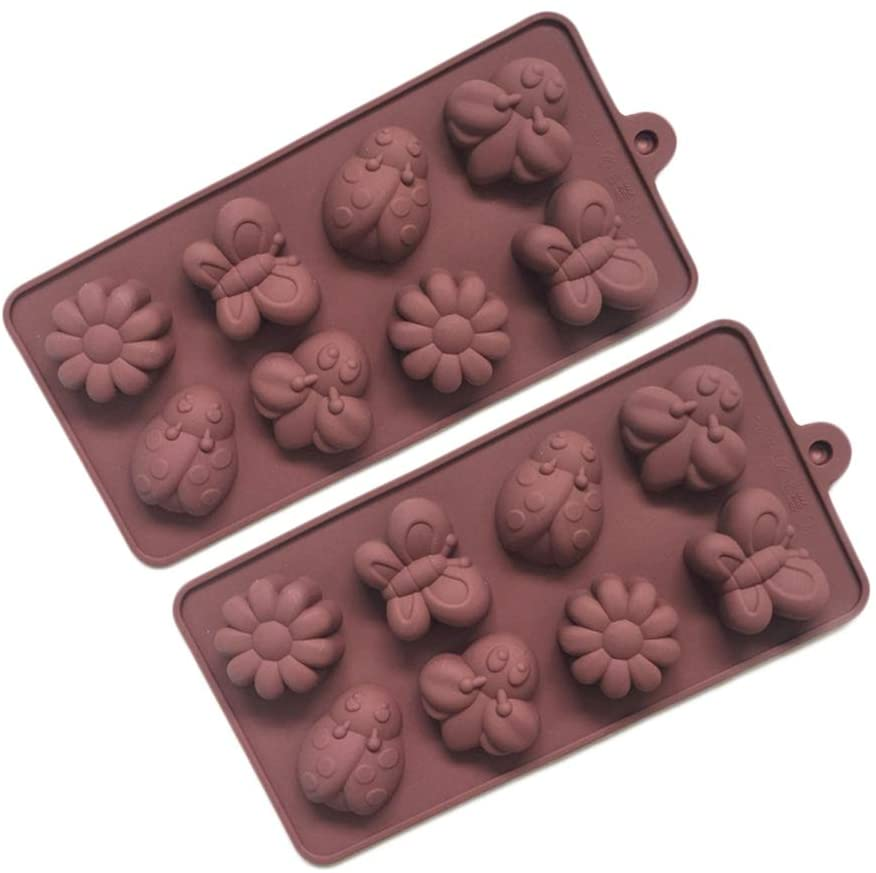 N / A Baking Molds Ice Cube Molds Animal Shape 8-Hole Maker for DIY Gum Paste Crystal Cupcake Cake Mould Pack of 2 - Random Color