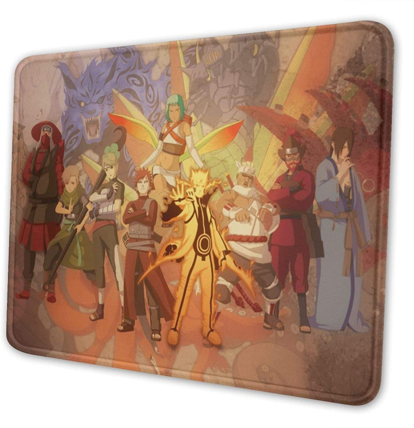 Naruto Non-Slip Mouse Pad Rectangle Rubber Anime Mouse Pad Gaming Mouse Pad 8.3 X 10.3 in