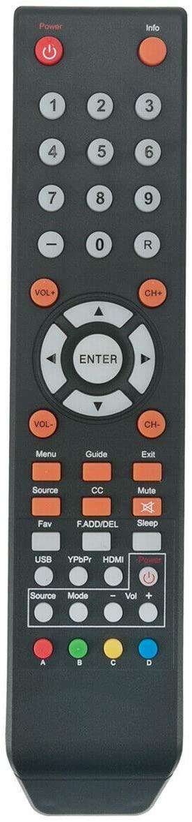 NKF New Remote for Sceptre TV X322BV-SR U750CV-UMR E195BD-SRR E195BV-SRR X405BV-FSR