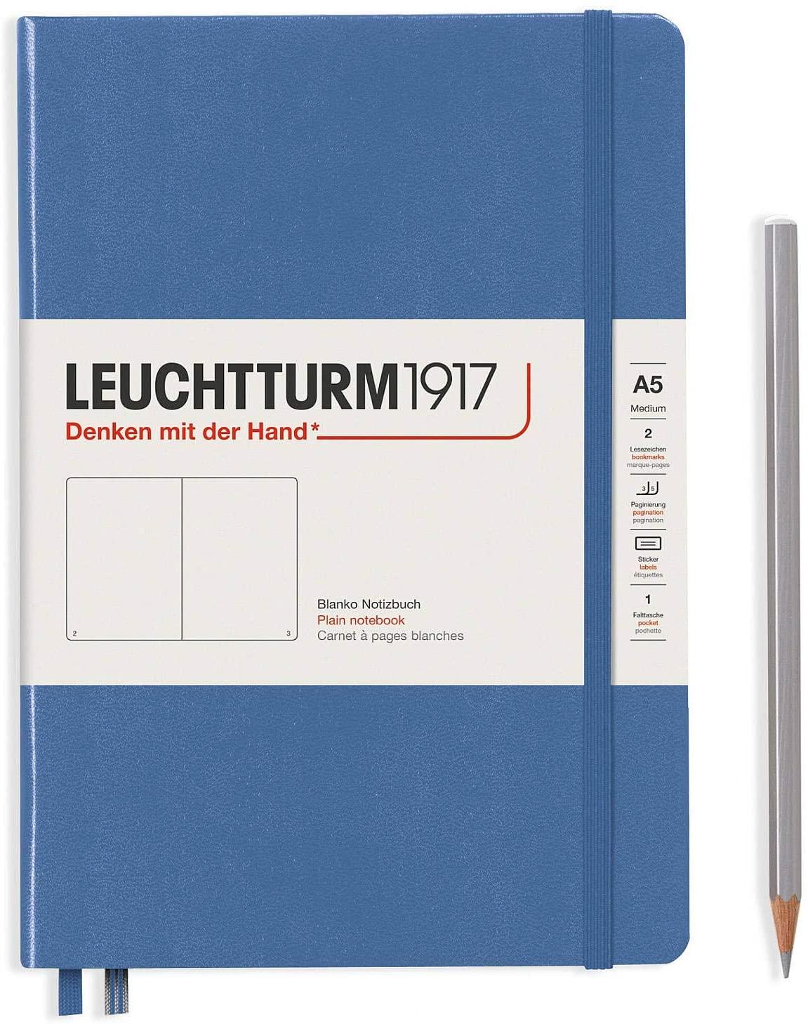 Leuchtturm1917 Notebooks Hardcover Medium (A5) Denim, Medium, 251 p, plain