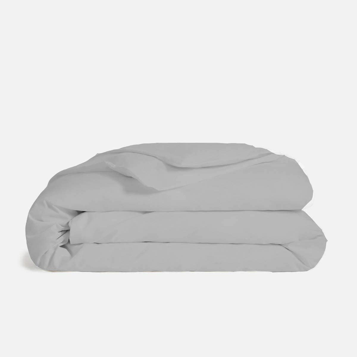 True-Luxury 1000-Thread-Count 100% Egyptian Cotton 3 Piece Duvet Cover Set [Cal-King 104''X 98''-Light Grey] Single Ply Yarns Sateen Weave, 100% Long Staple Egyptian Cotton Quilt Cover
