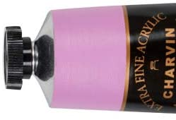 Charvin Extra-Fine Artists' Acrylic Paints - Luxurious Professional Artist Paint Created to Mimic The Colors of Nature - 150 ml Paint Tube - [Eva's Pink]