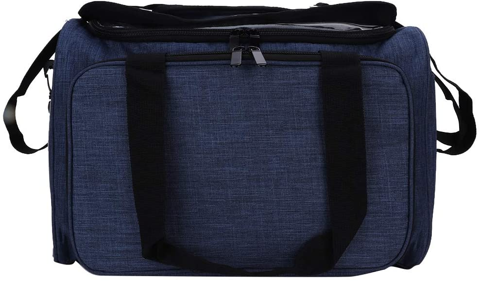 Yarn Storage Bag, Large Capacity Portable Knitting Bag for Yarn Skeins, Crochet Hooks, Knitting Needles and Other Small Accessories, Household Supplies(Blue)