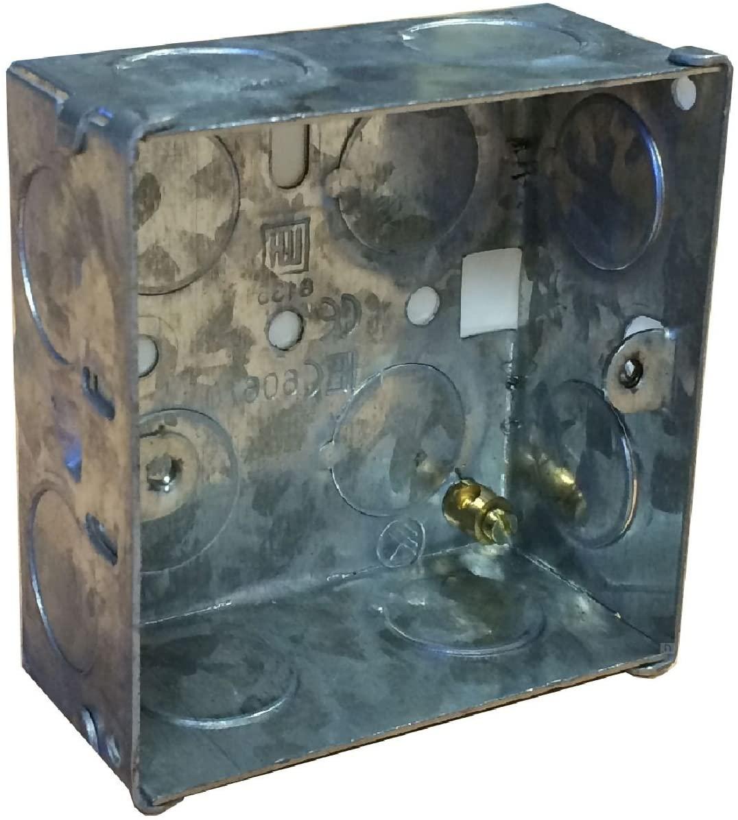 Single Metal Back Box 35mm Flush Wall Pattress / 1 Gang Electrical Socket Switch