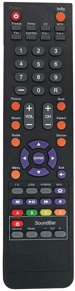 NKF Remote for Sceptre TV X322WV-HDR X322UV-HDR X322PV-HDR P405BV-FHDR P505BV-FMDR