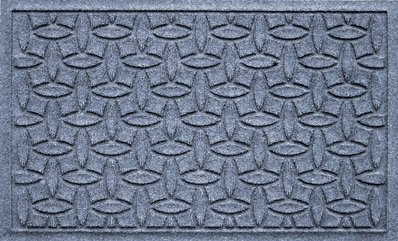 Bungalow Flooring Waterhog Door Mat, 2' x 3' Made in USA, Durable and Decorative Floor Covering, Skid Resistant, Indoor/Outdoor, Water-Trapping, Ellipse Collection, Bluestone