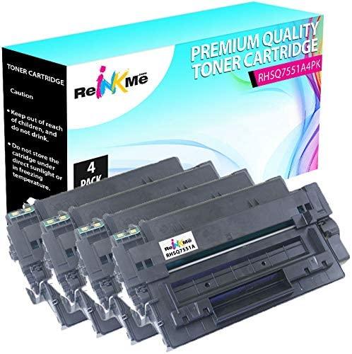 ReInkMe 4 Pack Compatible Q7551A Toner Cartridge for HP Laserjet M3027 M3035