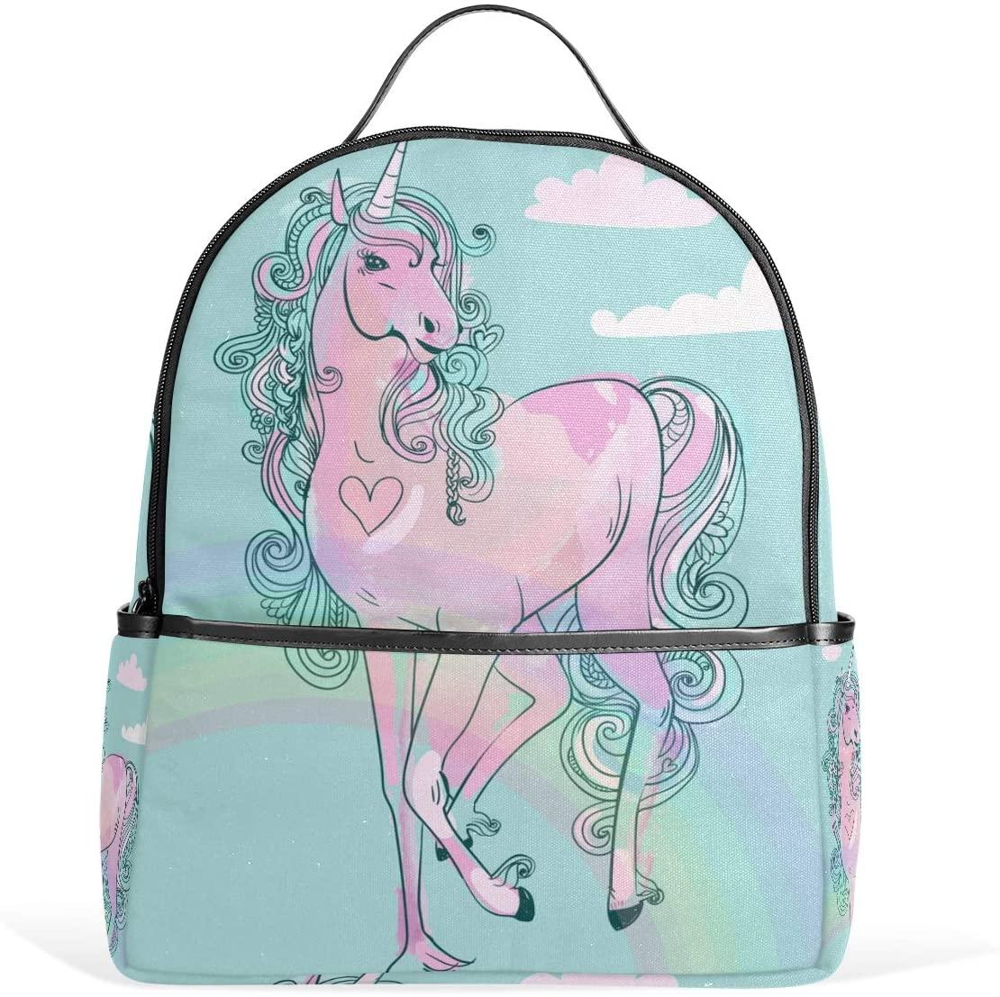 Kids School Backpack Fairytale Unicorn Bookbag for Boys Girls Lightweight Casual Travel Bag Large Capacity Daypack