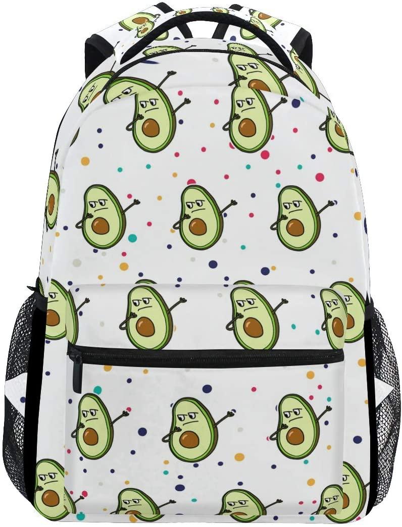 Stylish Dab Avocado Backpack- Lightweight School College Travel Bags, ChunBB 16 x 11.5 x 8