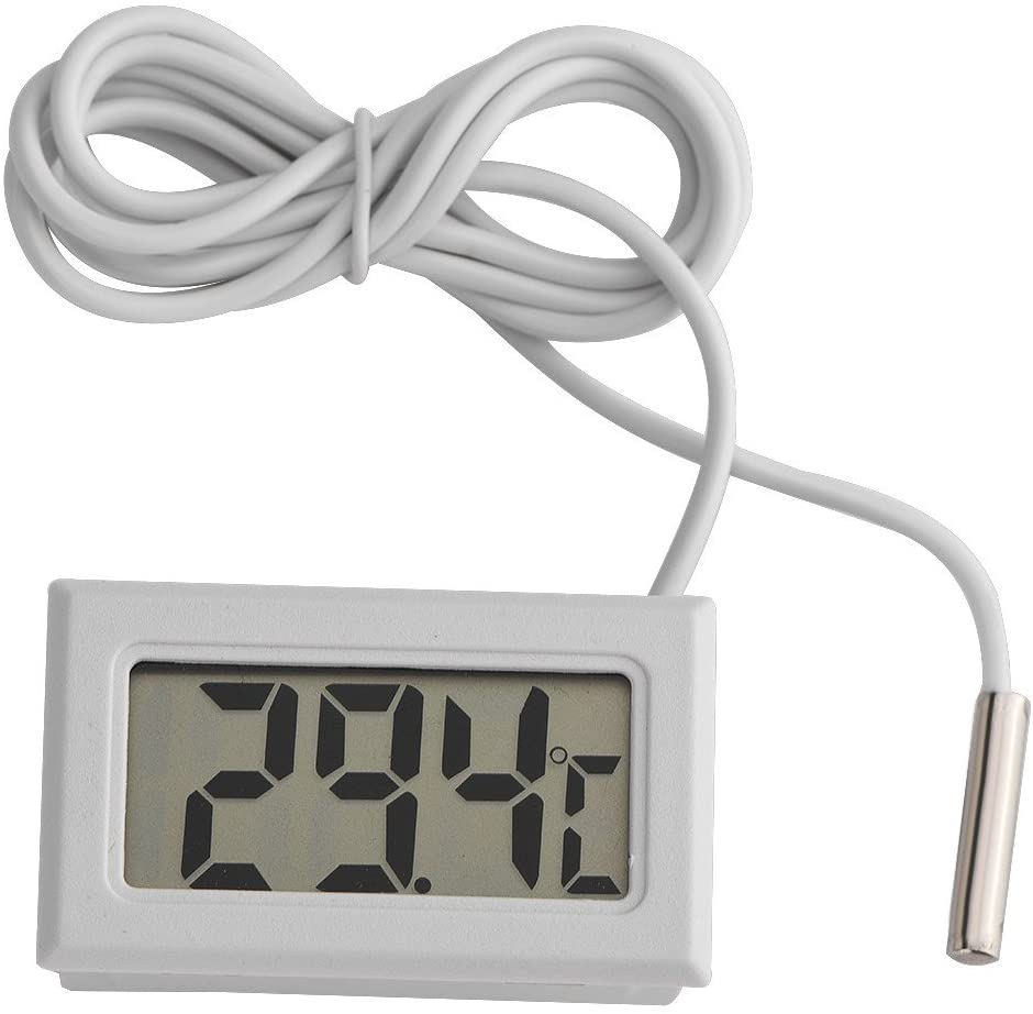 HERCHR Aquarium Thermometer, Digital Thermometer for Fish Tanks Turtle Tanks Long Probe Sensor Water Tank Thermometer