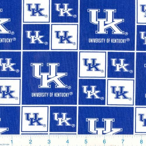 Collegiate Cotton Broadcloth University of Kentucky Wildcats Fabric