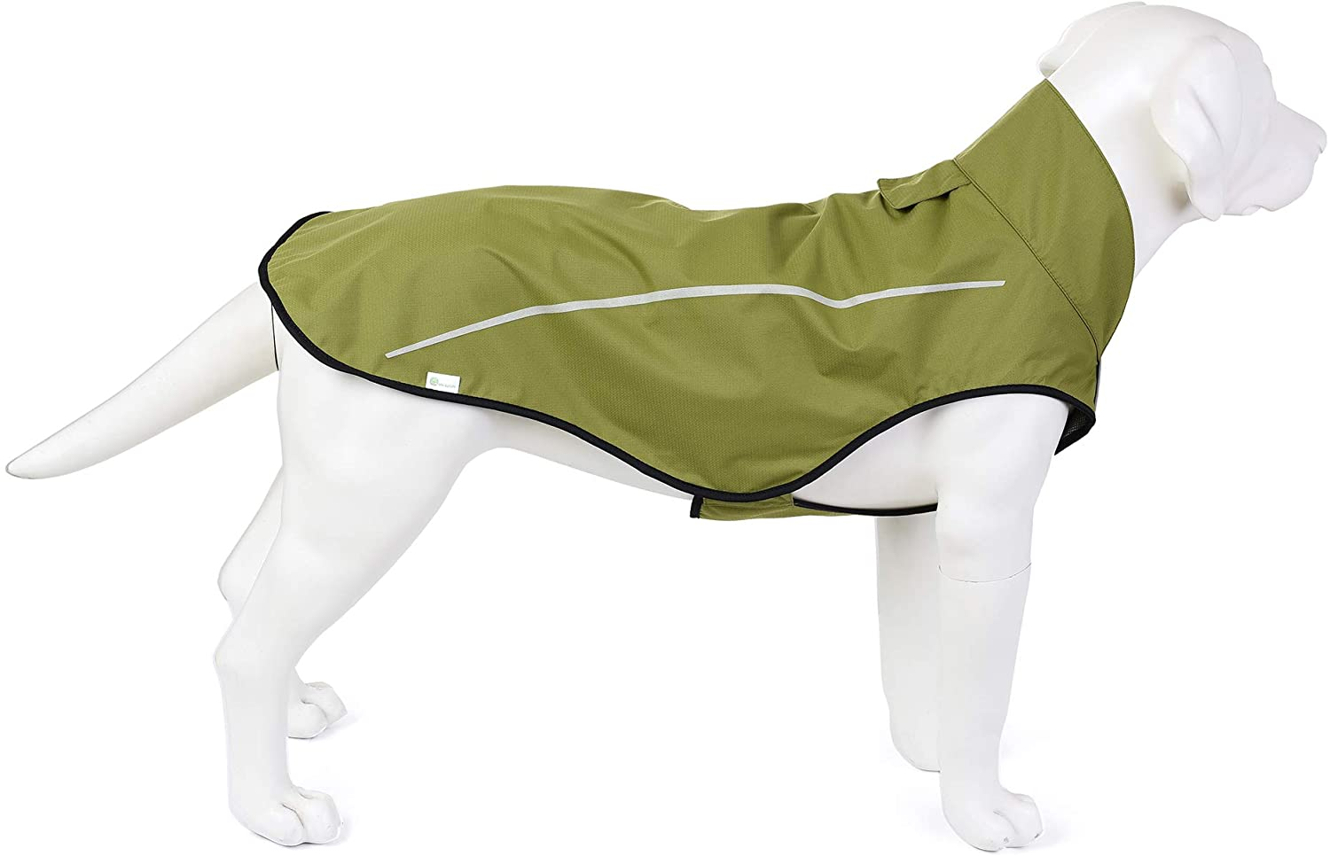 Mile High Life | Dog Raincoat | Adjustable Water Proof Pet Clothes | Lightweight Rain Jacket with Reflective Strip | Easy Step in Velcro Closure
