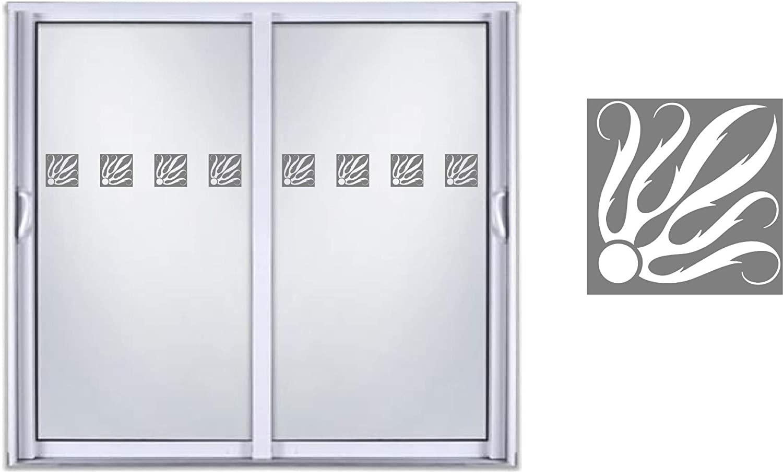 Sliding Door Indicator Safety Film Etched Glass Frosted Vinyl Decal Sticker Design 04
