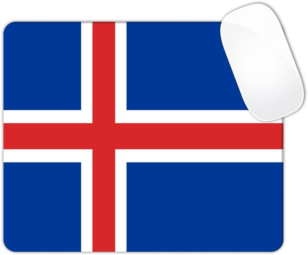 Iceland Flag Mouse Pad