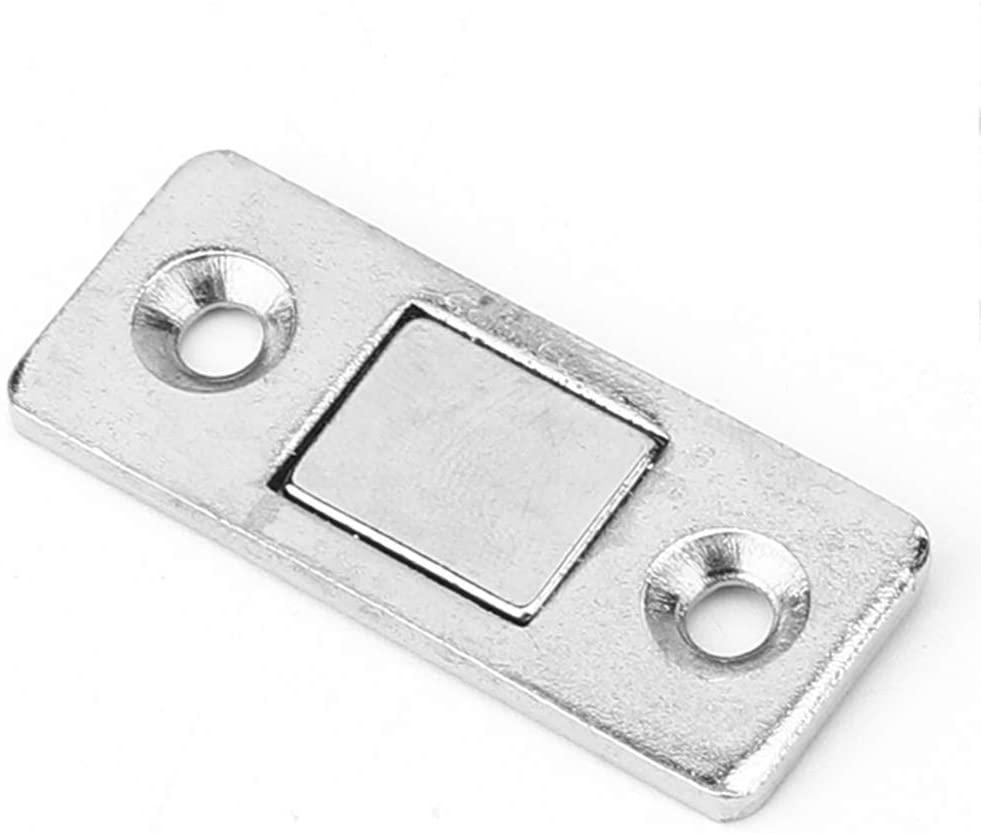 hongxinq 10Pcs Stainless Steel Cabinet Door Magnet Sliding Door Suction Magnetic Door Catch