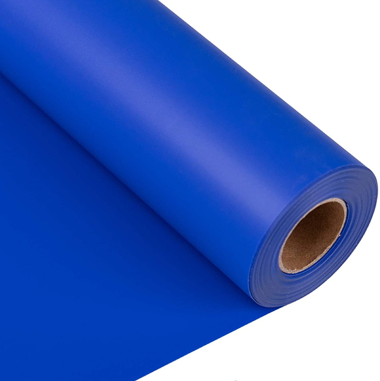 """Joyinland Iron On Vinyl HTV Rolls - 12"""" x 20' Blue Heat Transfer Vinyl - DIY HTV Heat Transfer Vinyl for T Shirts(Blue)"""