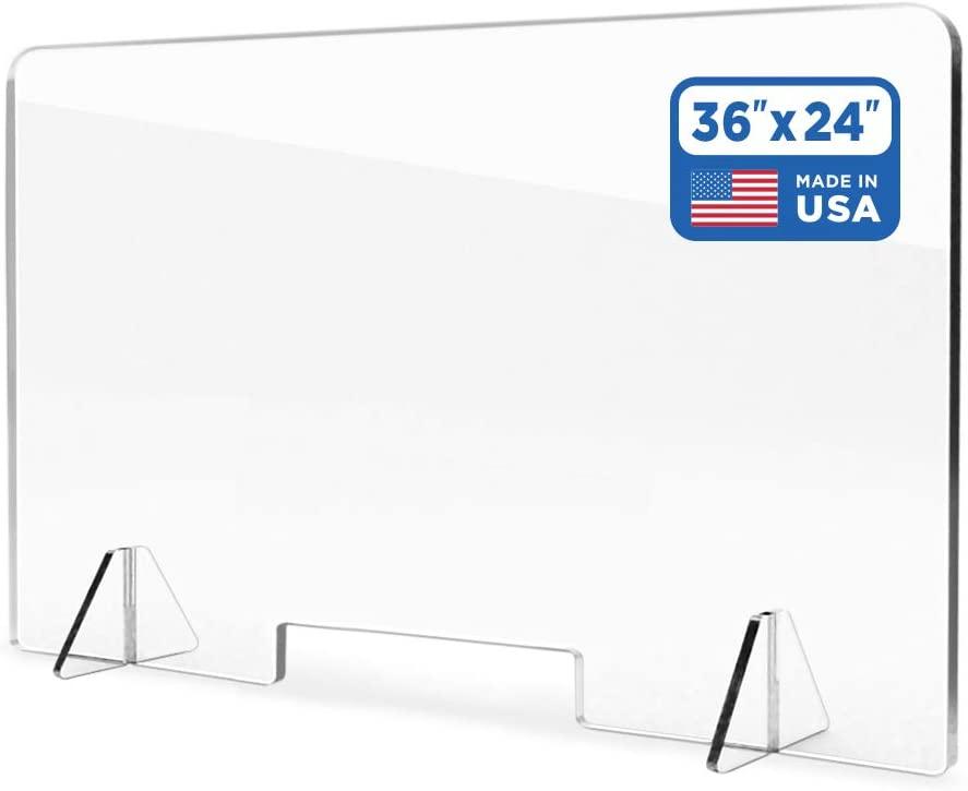 Sneeze Guard Acrylic Shield Barrier - 3/16