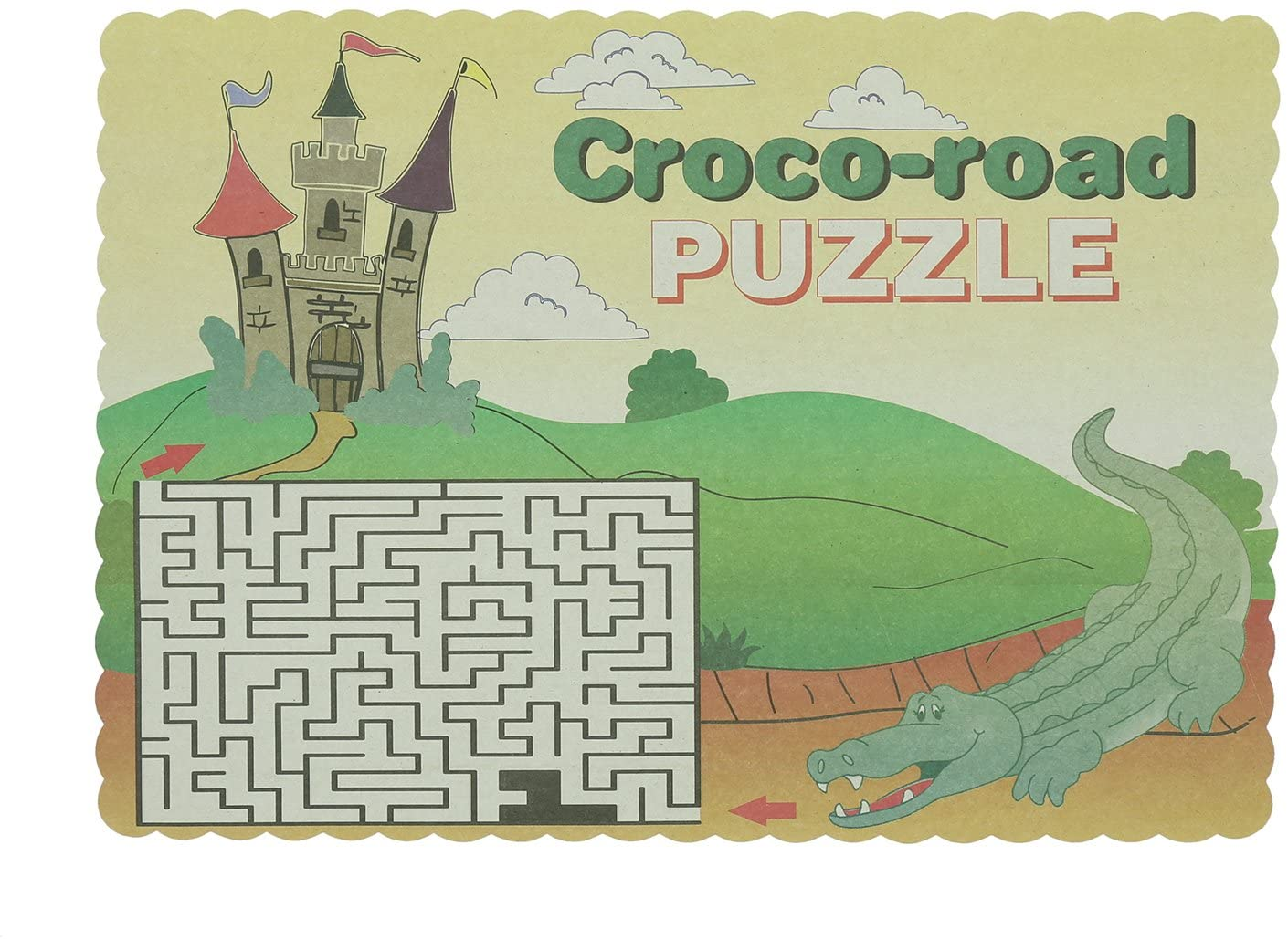 Royal Crocodile Design Placemats, Package of 1000