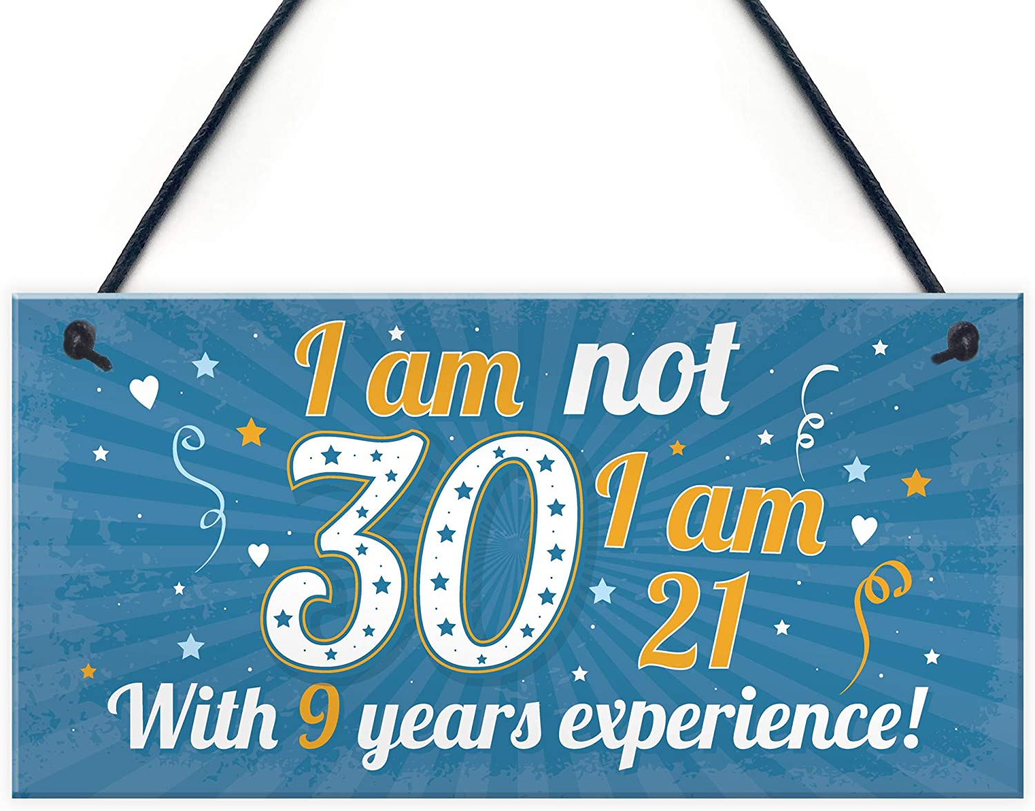 Funny 30th Birthday Gift Hanging Plaque Novelty Friendship Family Brother Sister for Friend
