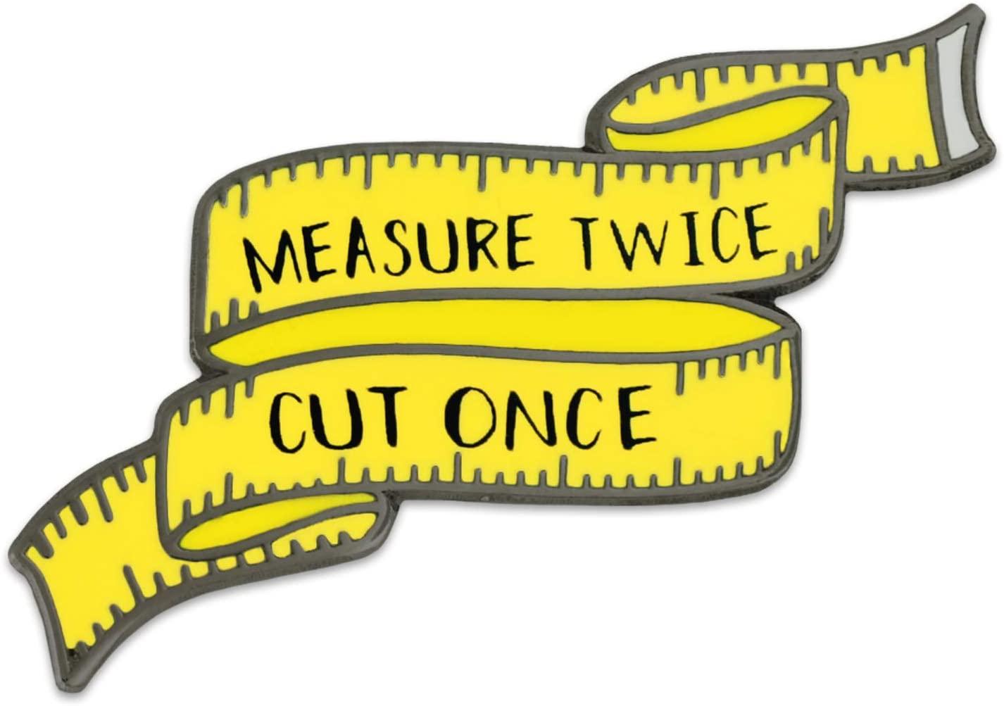 PinMart's Sewing Tape Measure Cute Enamel Magnetic Lapel Pin and Needle Minder