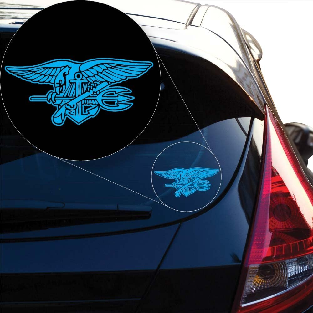 Yoonek Graphics US Navy Seal Decal Sticker for Car Window, Laptop and More # 972 (7 x 15.3, Other)