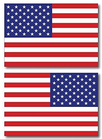 NGK Trading American Flag Car Vinyl Sticker Decal - 4 x 6 Opposing Heavy Duty for Car Truck SUV