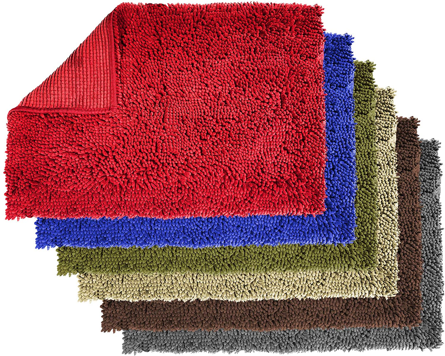 Enthusiast Gear Dog Mud Mat | Ultra Absorbent Microfiber Chenille Non-Slip Doormat, Dog Bowl Floor Mat, Crate Rug – No More Dirty Dogs with Muddy Paws – Washable