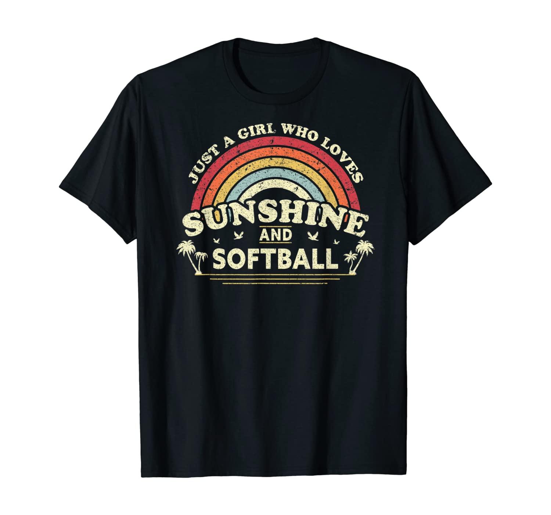 Softball Shirt. Just A Girl Who Loves Sunshine And Softball T-Shirt