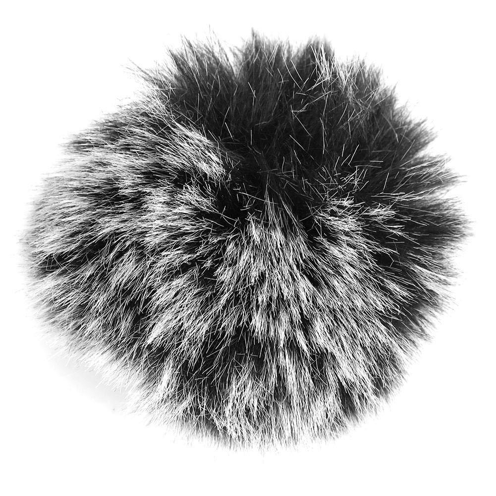 Durable Black Microphone Furry Cover, Windscreen Windshield Muff Fur USB Microphone for Wm6/WM8/M1