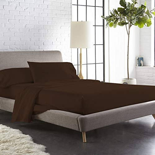 VGI Linen Top Selling Queen Sleeper Sofa 4-PCs Bed Sheet Set on DHgate !! Made from Heavy Egyptian Cotton Quality Solid Chocolate Color, Queen Size Fits Pockets 5