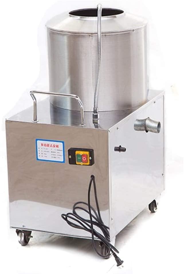 Electric Potato Peeler,Commercial Potato Peeler w/Caster Wheels Stainless Steel Inner,Peeler Washer for Potato 1.5KW 110V