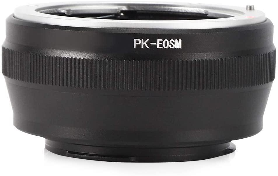 S erounder Manual Focusing Lens Adapter Ring, Metal Manual Control MF Camera Lens Converter,for Pentax K/PK Lens to for Canon EOS M EF‑M Mirrorless Camera Body