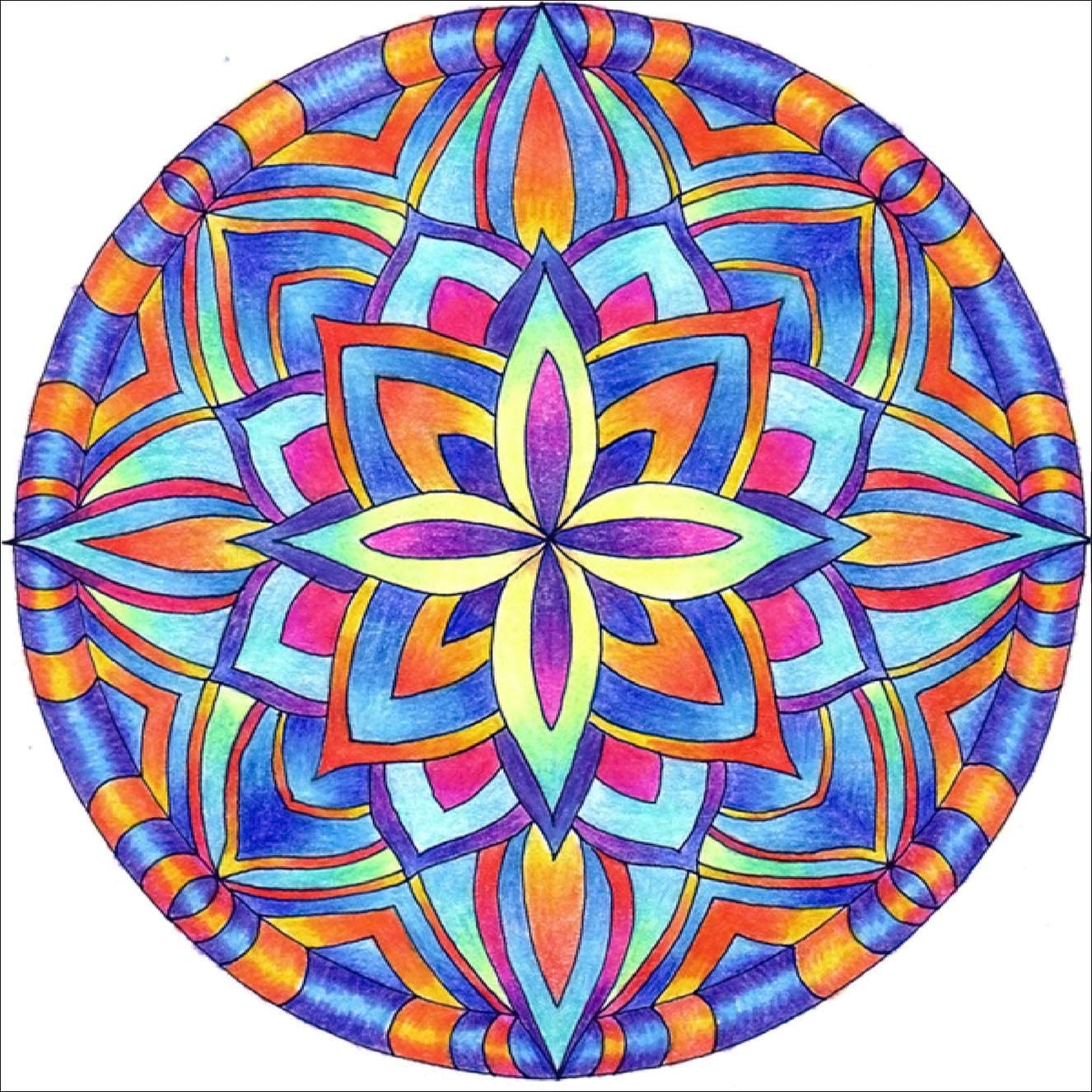Bimkole 5D Diamond Painting Mandala Flower Full Drill by Number Kits Paint with Diamonds Arts Wall Decoration Home Decor, 16x16inch(M1-816)