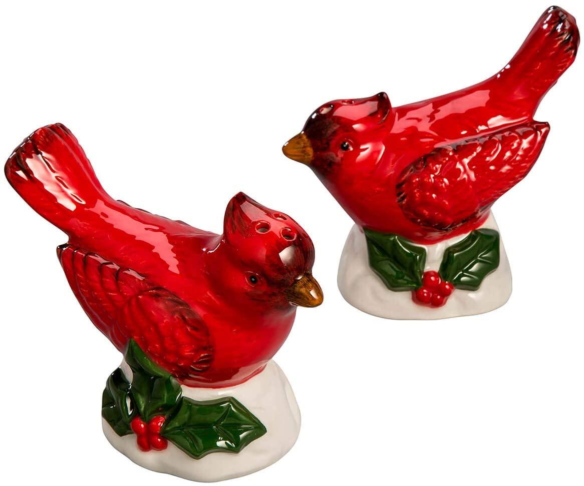 Cardinal Salt & Pepper Shakers