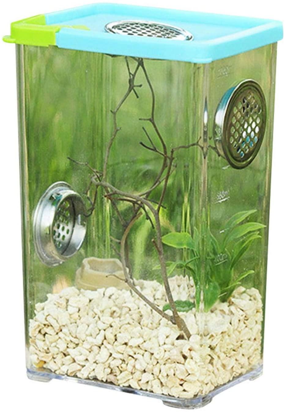 Reptile Breeding Box Acrylic Spider Scorpion Feeding Box Clear Acrylic Reptile Terrarium Feeding Box,Moisture-Proof and Heat Preservation.