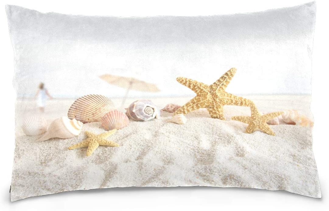 Bolaz Starfish and Seashells in The Sand Pillow Cover Decorative Pillowcase Pillow Covers Throw Pillow Soft Cushion Case for Bedroom Sofa 20