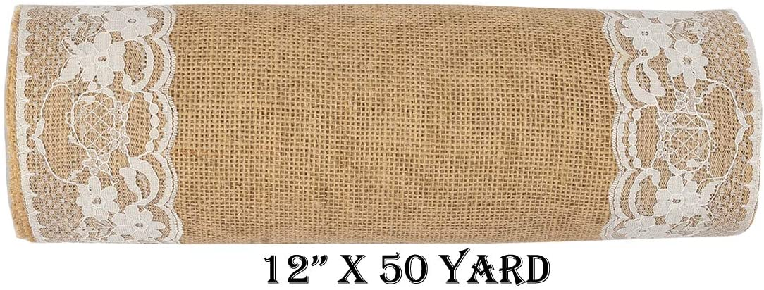 mds Pack of 5 Wedding Burlap Table Runners 12
