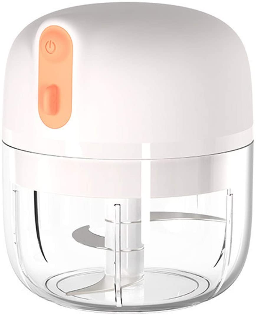 Electric Mini Food Choppers-Small Food Processor For Garlic Veggie-Dicing-Mincing & Puree-Fruit Salad-Automatic Chopper Food Garlic Mini Robot Multifunction Kitchen Vegetable,250ml (Gray)