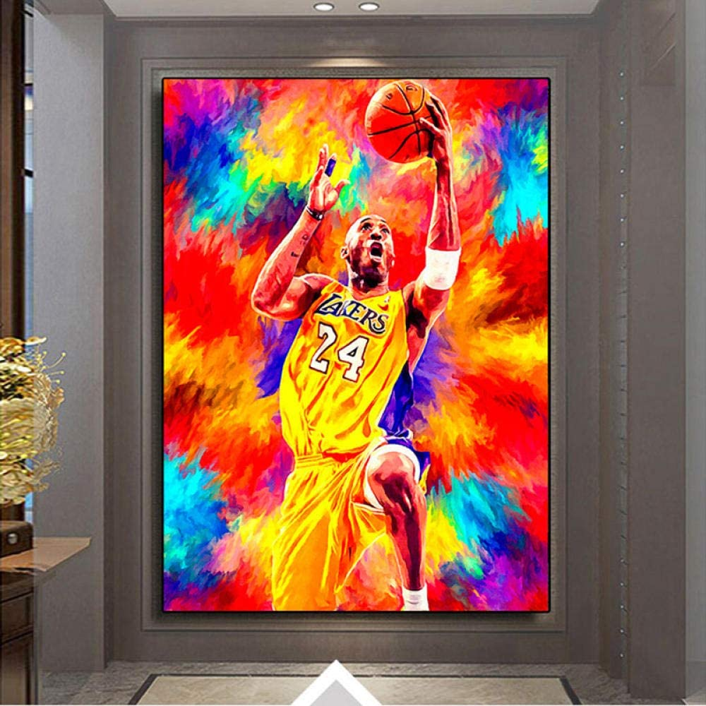 TWTQYC Great Basketball Player Kobe Bryant Poster Living Room Decoration Canvas Painting Wall Art Home Deocor|60x80cm/No Frame