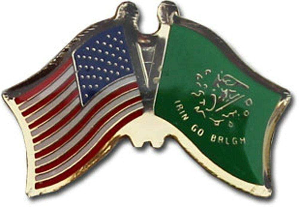JumpingLight USA American Erin Go Bragh Friendship Flag Bike Motorcycle Hat Cap Lapel Pin - Quality Flags