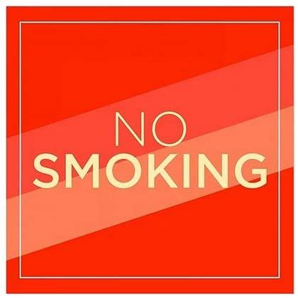 CGSignLab |No Smoking -Modern Diagonal Window Cling | 5x5