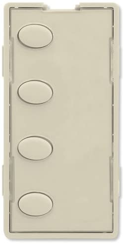Simply Automated UPB Faceplate, 4 Oval Buttons, Almond (ZS24O-A)