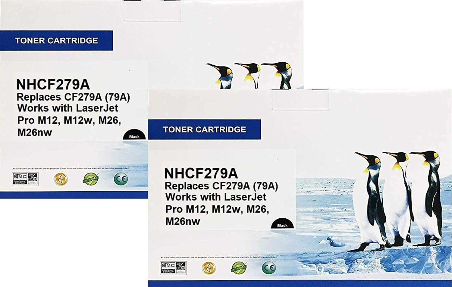 Search4Toner Compatible Replacements for HP CF279A, 79A, 2PK, Replaces HP CF279A, 79A, 2PK, Lower Cost Alternative to HP Brand, Overall Defect Rates Less Than 1%
