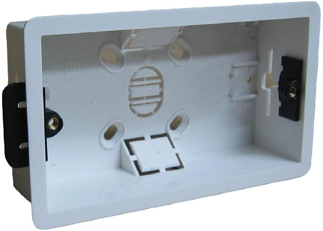 Dry Lining Back Box Flush Wall Pattress Double 2 Gang Electrical Socket Switch